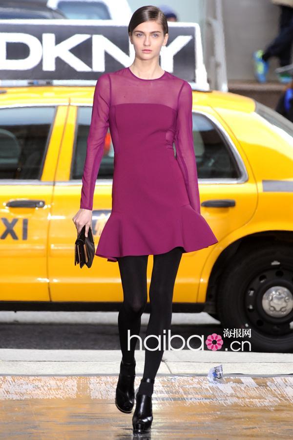 帅气皮草&a皮草视频打造纽约客制服!DKNY20三菱plc皮革教程图片