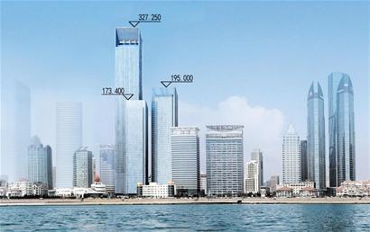 青岛第一高楼将拔地而起 327米俯瞰浩瀚海波(组图)