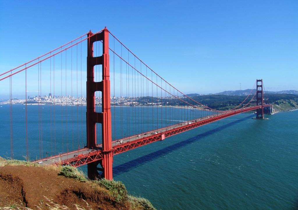 游客可从这里观望到金门大桥