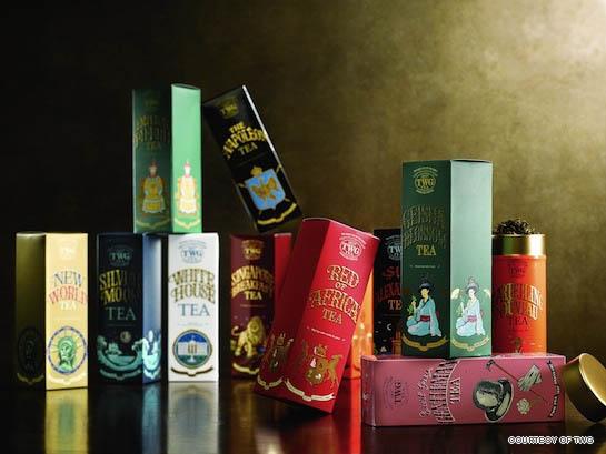 品质管制严格的TWG Tea从各地的优质茶园直接采摘并输入,来源地更远至波斯、土耳其、乔治亚等,茗茶品种包罗万有