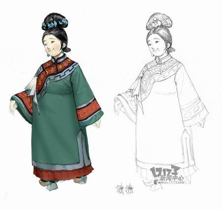 古代衣服图片手绘图片