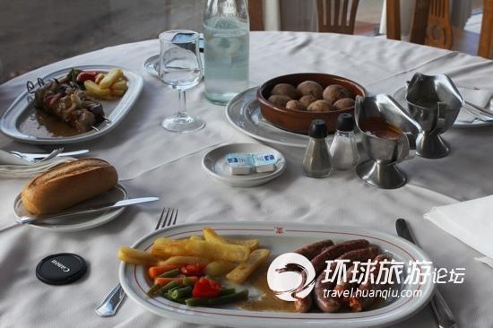 火山口餐厅里的食物
