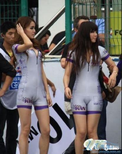 ctcc赛车宝贝 紧身衣太紧!(组图)