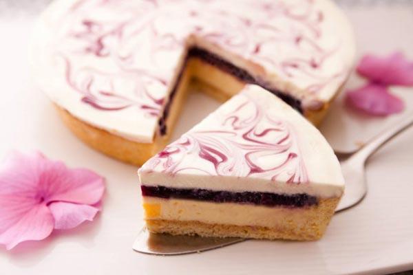 搭配甜点:Blueberry Cheese Pie 蓝莓乳酪派