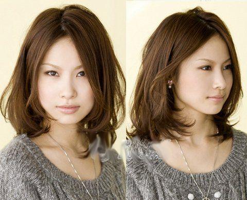 中分的长刘海很适合进入30岁的轻熟女们,既优雅知性又时尚大气.图片