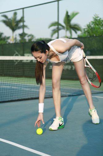 网球运动写真