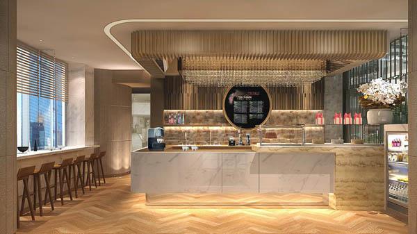 Dolce 88咖啡甜品店位于香港JW万豪酒店的酒店大堂,同时拥有时尚的露天和室内舒适环境