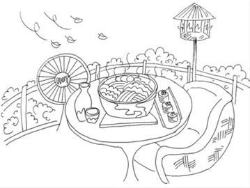 在露台上坐享美食美景(组图)图片