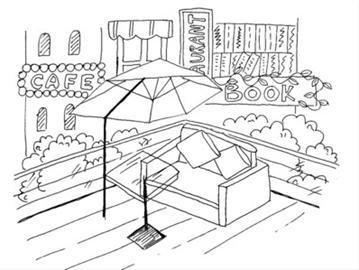 阳台手绘设计图