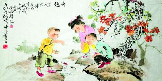 尤其儿童题材的绘画