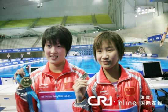 跳水世界杯 陈若琳 胡亚丹包揽10米跳台比赛冠亚军