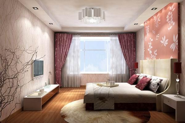 效果图/卧室壁挂电视 最新卧室装修效果图赏析