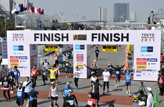 一年一度的东京马拉松已经成为日本最重要的体育赛事之一