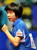 图文:[亚锦赛]日女乒3-1中国香港 李皓晴庆祝