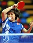 图文:[亚锦赛]日女乒3-1中国香港 李皓晴回球