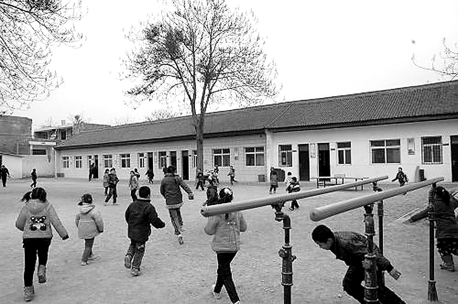 旧学校 简笔画