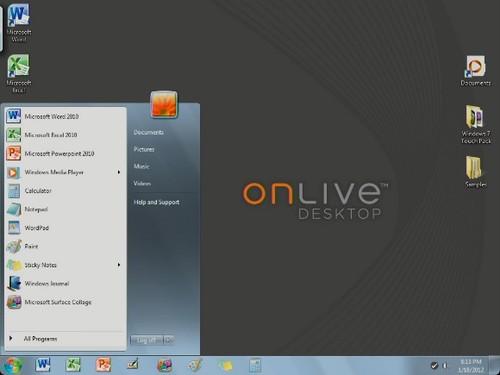 OnLive Desktop Plus应用