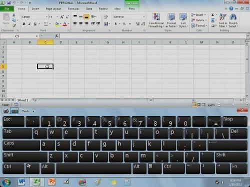 微软Tablet虚拟键盘