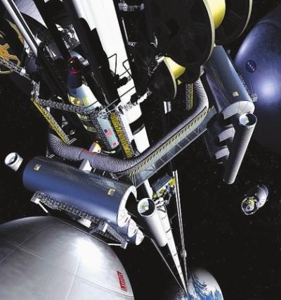 太空电梯模拟图