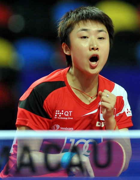 冯天薇庆祝胜利