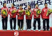 图文:乒乓球亚锦赛女团决赛 新加坡获亚军