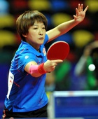 图文:乒乓球亚锦赛女团决赛 刘诗雯回球瞬间