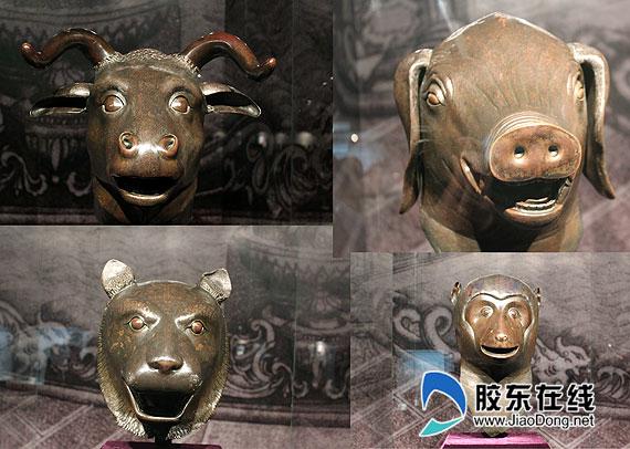 曾流失海外的国宝级文物,圆明园牛首,猴首,虎首和猪首