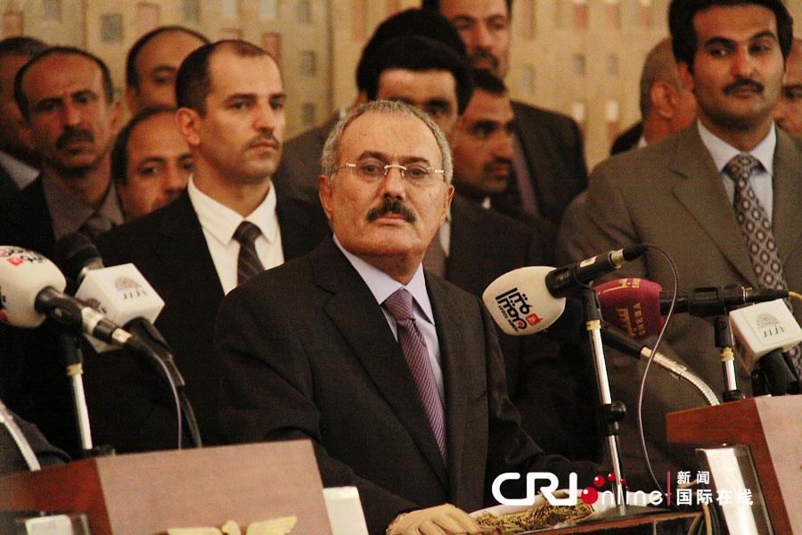 移交 权力 总统 仪式 也门 举行/也门举行总统权力移交仪式。