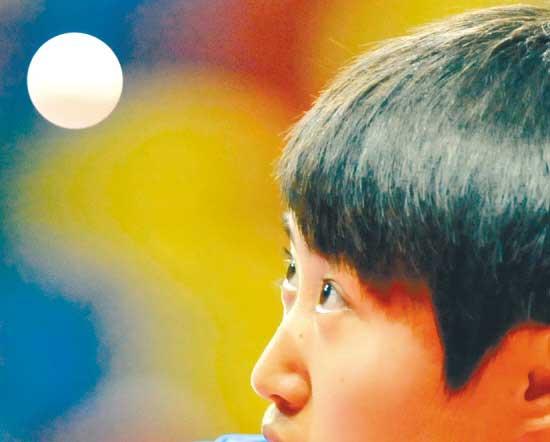 昨天,郭跃闯过本届亚锦赛女单第二轮。新华社发