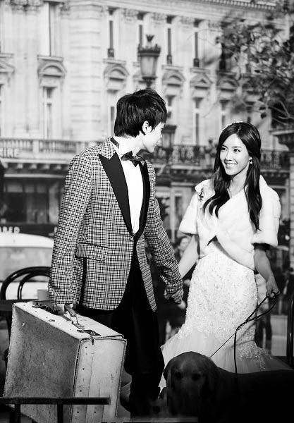 婚纱照 朴孝敏/编者按:韩国MBC真人秀节目《我们结婚了》诞生了许多假想明星...
