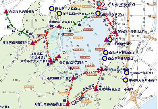 杭州河坊街手绘地图