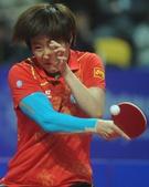 图文:乒乓球亚锦赛郭焱女单夺冠 纠结的回球