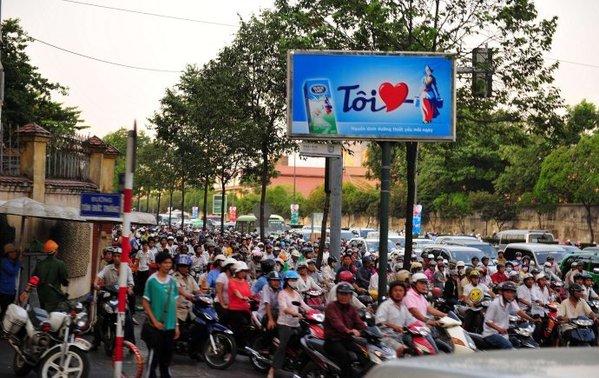 街拍越南美托 让人震撼的摩托车大军