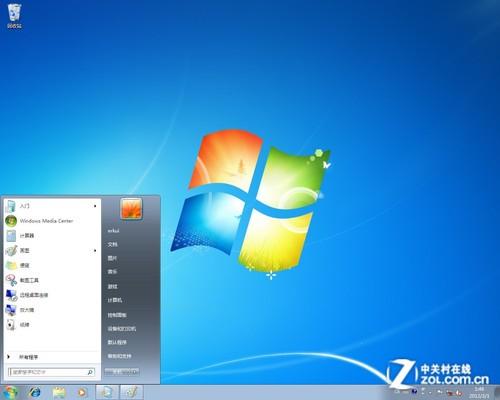 windows 7开始菜单具备aero透明效果,功能方面也是历届版本中最丰富的