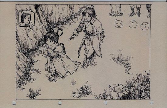 超萌的《仙剑奇侠传4》铅笔手绘图集
