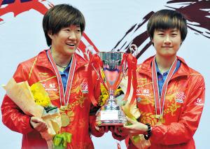 乒乓球亚锦赛落幕 中国6金收官(图)