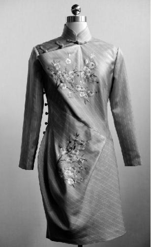 为茅威涛量身定做的旗袍