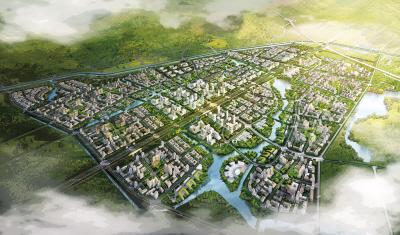 中关村翠湖科技园鸟瞰图