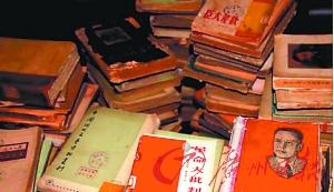 书籍多为较早发行的(图片来源:广州日报)