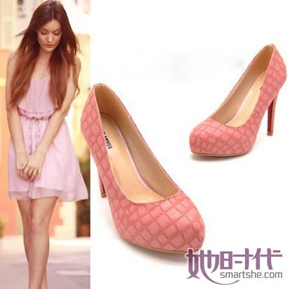 style 鳄鱼/鳄鱼纹超高跟单鞋