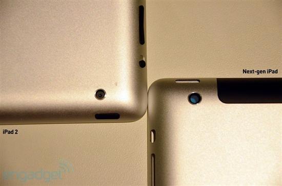 再来一张背部摄像头对比,到此,我们的iPad3对比iPad2就到此结束了,马上我们就会迎来iPad3发布,届时请继续关注泡泡网带给您的全程直播。