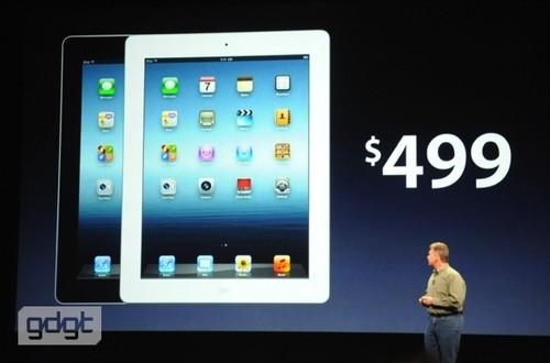 价格未变 2012苹果iPad新品499美元起
