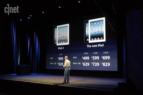 2012苹果iPad新品各版本价格公布(图片来自网络)