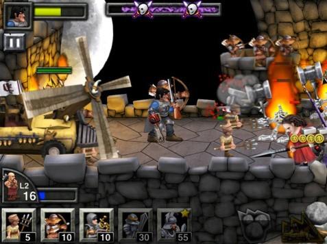 游戏动画画面漂亮,可传唤多个兵种包括剑士,装甲骑士,弓箭手,以及更多,支持游戏中心排行,100多个电影搞笑情节,游戏方面可使用多种特殊能力,是一款高品质游戏。