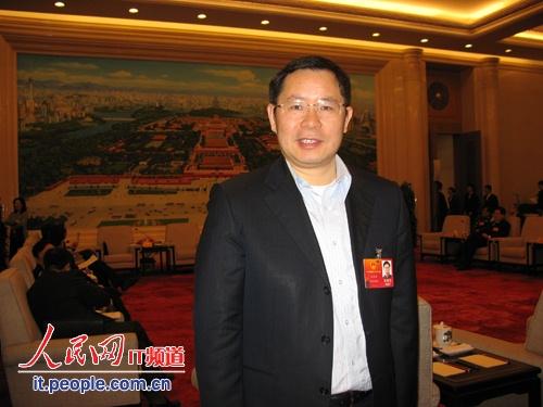 图为全国人大代表 用友软件董事长兼CEO王文京