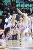 组图:舞时尚助威广东宏远 篮球宝贝演迷彩诱惑