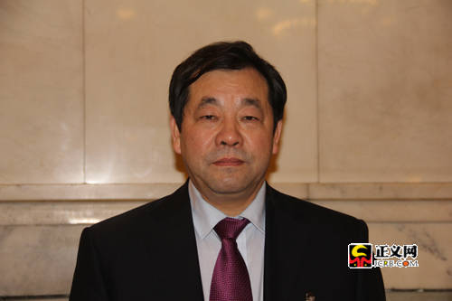 全国政协委员,盛达集团股份有限公司董事长赵满堂.正义网记者贾娜/摄