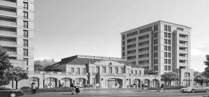 沿街商业立面效果图,商业立面,商业外墙立面效果图,法式商业高清图片