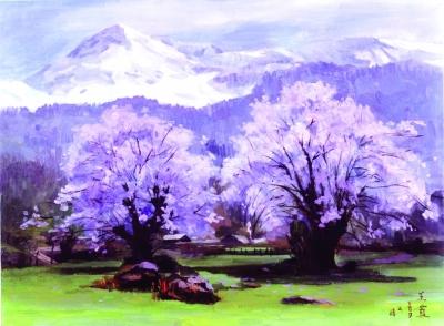 雪山下的春天 (油画) 王霞