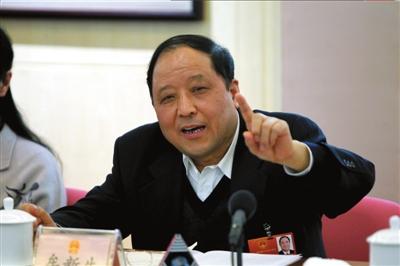 牟新生在北京代表团分组审议上发言。 本报记者王海欣摄
